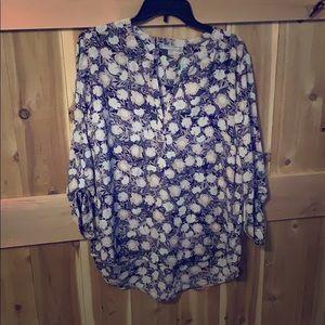 Koda split neck blouse